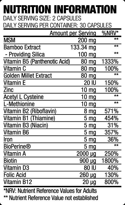 kristen hair vitamin ingredients